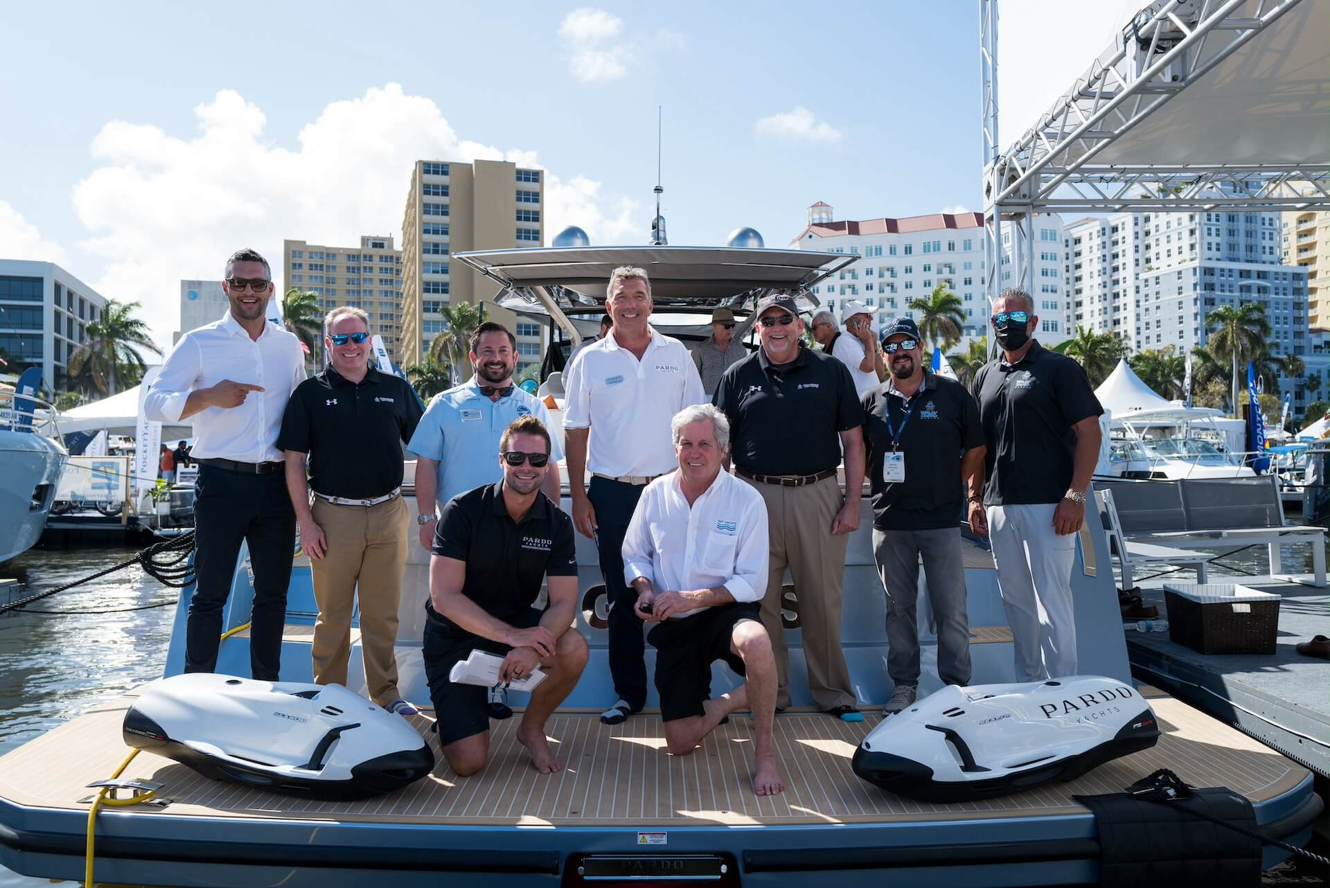 Pardo Yacht at the Palm Beach Boat Show 2021